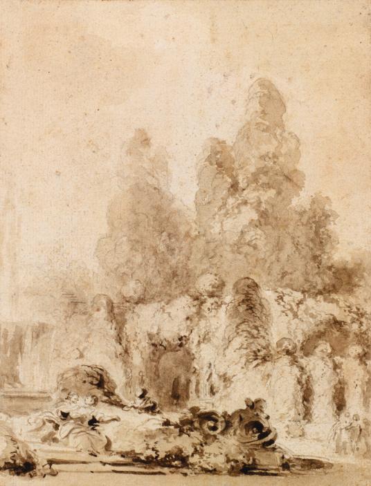 Jean-Honoré Fragonard, Couple in a parkEstimate: $27 250 - 37 750