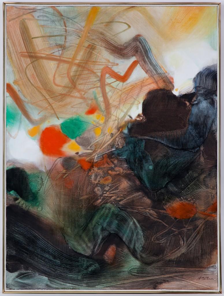 """Chu Teh-Chun (1920-2014), """"Une obscure clarté III"""", huile sur toile, signée et datée (19)84"""