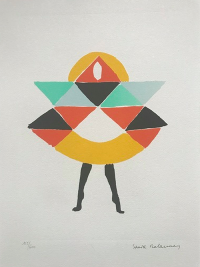 Carnaval, Sonia Delaunay. 1923, lithograph. Lot Prive