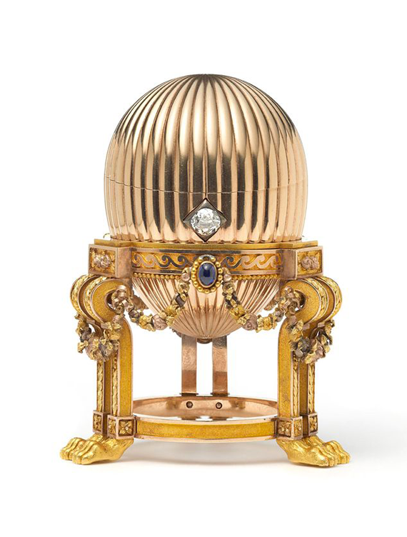 Fabergéägget som skrotsamlaren hittade på en loppis i USA. Foto: Wartski