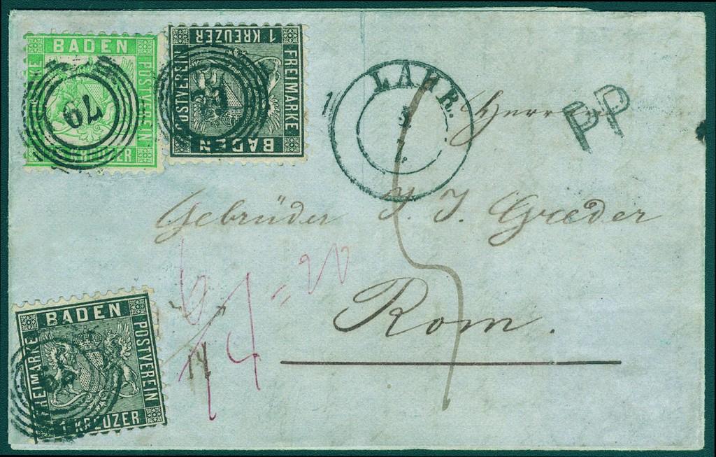 BADEN - Spezialsammlung von Briefen und Ganzsachen Ausruf: 8.000 EUR