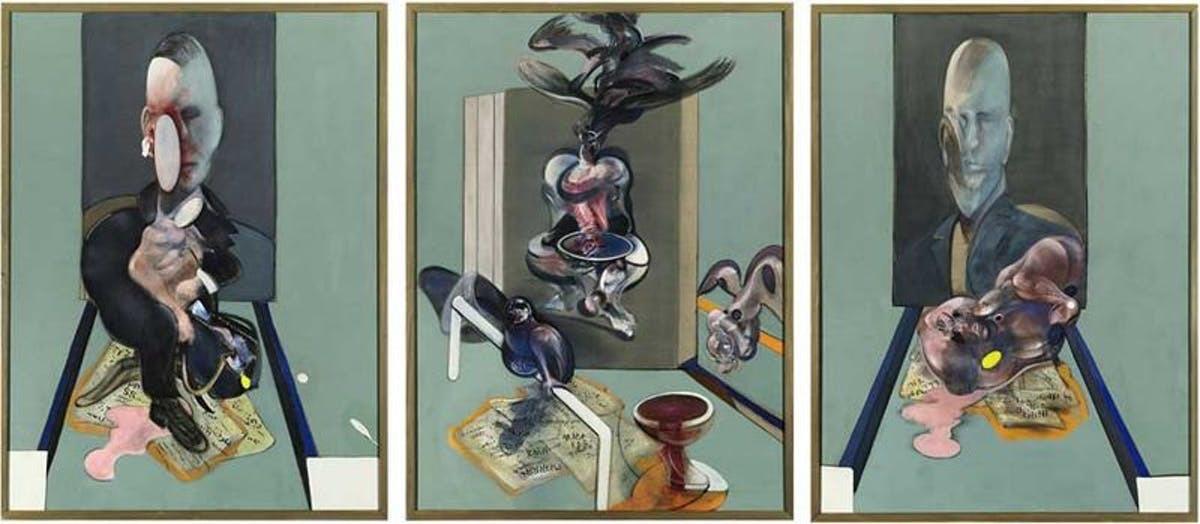 Triptych, 1976, Francis Bacon, olja och pastell på duk