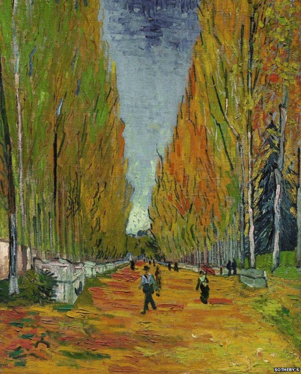 Vincent van Gogh, L'Allée des Alyscamps, 1888, image via BBC