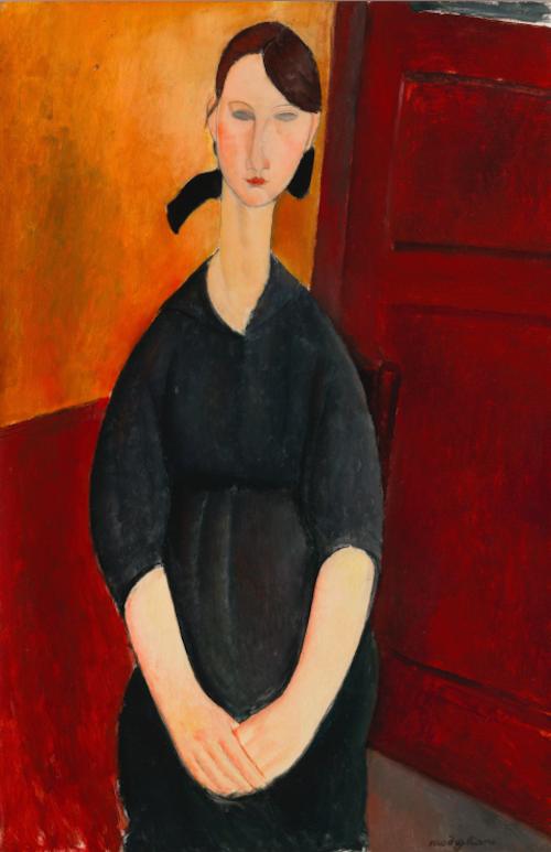 """den italienske konstnären Amadeo Modiglianis portättmålning """"Paulette Jourdain"""" från 1919 saknar utropspris, men troligen kommer det att bli en av auktionens dyraste målningar, förutsatt att man lever upp till de högt satta förväntningarna"""