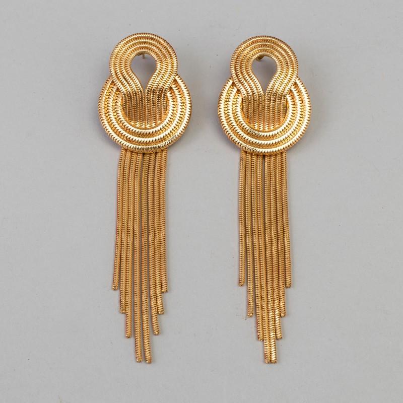 Lara Bohinc. Guldfärgad metall. Längd ca 11 cm. Orginalask medföljer och dustbag.