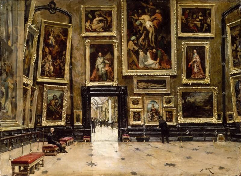 "Alexandre Jean-Baptiste Brun, ""Salon Carré"", omkring år 1880. Foto via Wikipedia."