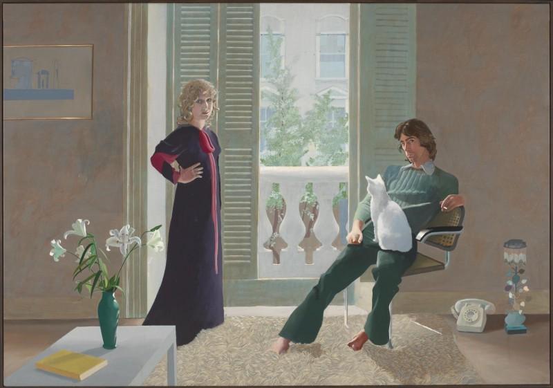 Mr and Mrs Clark and Percy, David Hockney år 1970-71. Foto via Tate Modern.