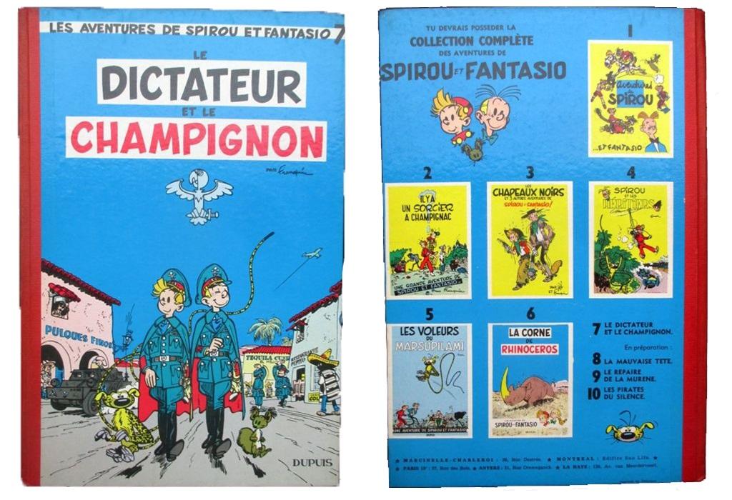 """Spirou y Fantasio. """"Le Dictateur et le champignon"""" (1956)"""