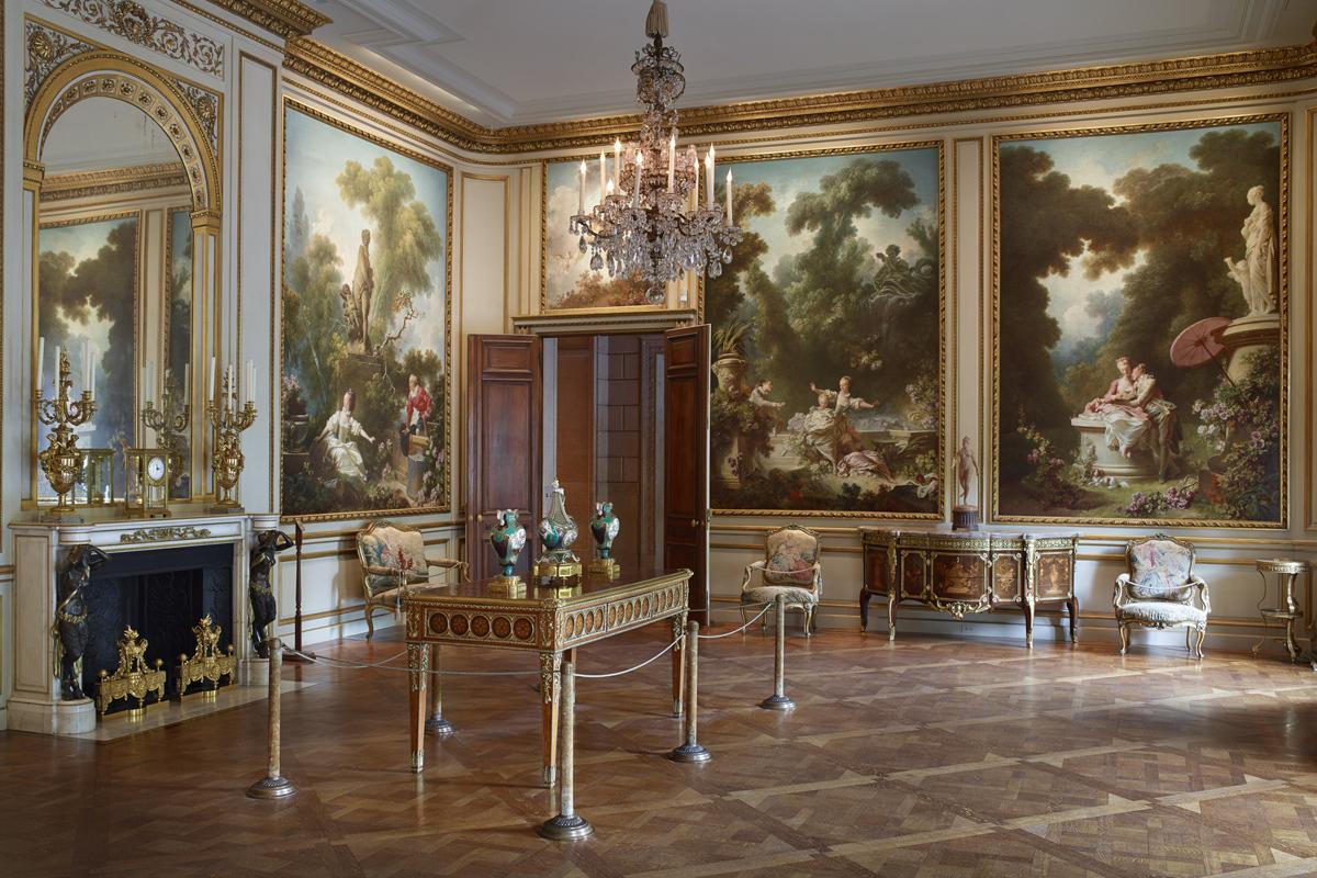 La série de quatre peintures de Fragonard fait maintenant partie de la collection Frick, image © Michael Bodycomb via The Frick Collection