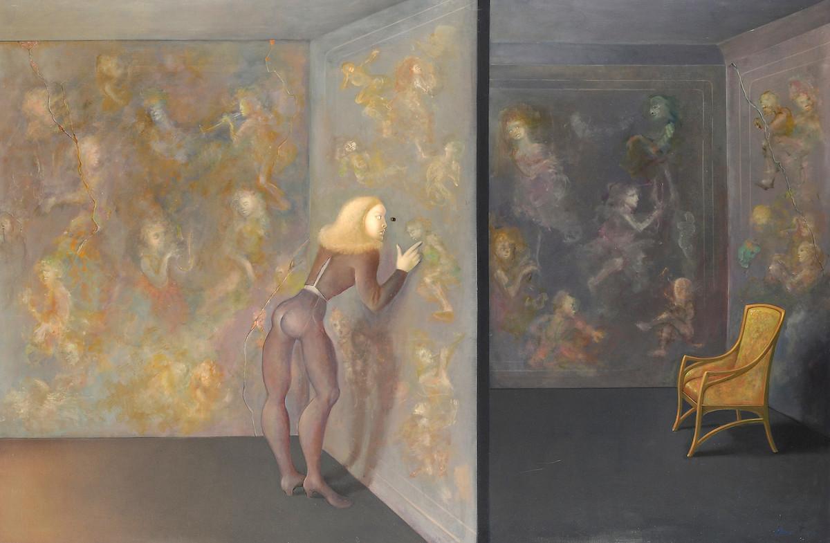 Leonor Fini, Une Grande Curiosité, 1983, ©Weinstein Gallery/Galerie Minsky