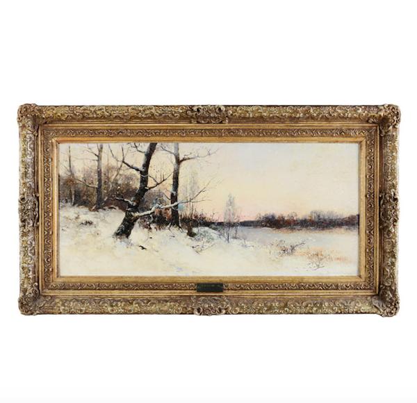 SEVERIN NILSON (1846-1918), olja på pannå, signerad Utrop: 8000 SEK Formstad Auktioner