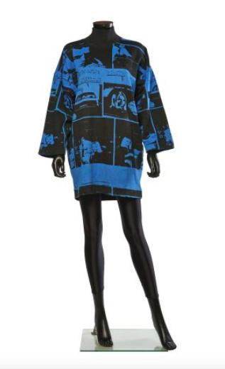 "Autumn - Winter 1980/81 MINI-DRESS Printed Fleece ""Romans Photos"""