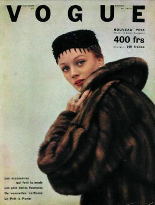 Niki de Saint-Phalle en couverture de Vogue, image via Pinterest