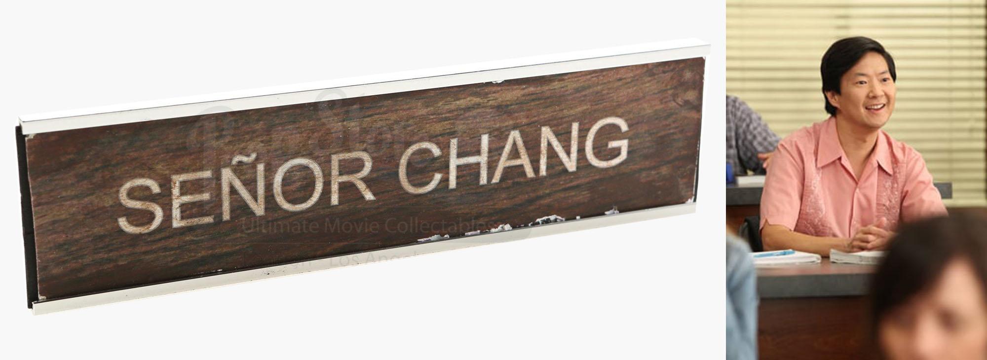 Ben Chang's (Ken Jeong) Name Plaque