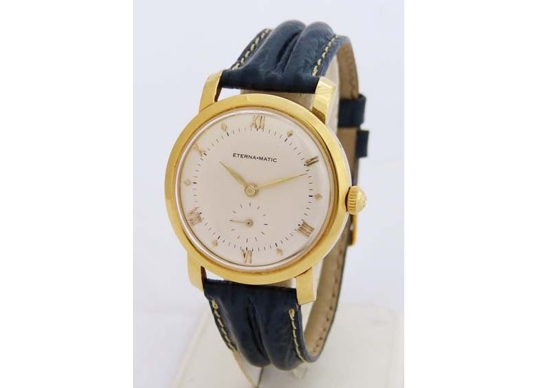 Reloj suizo vintage ETERNA en oro amarillo para caballero. Modelo 'Eternamatic'