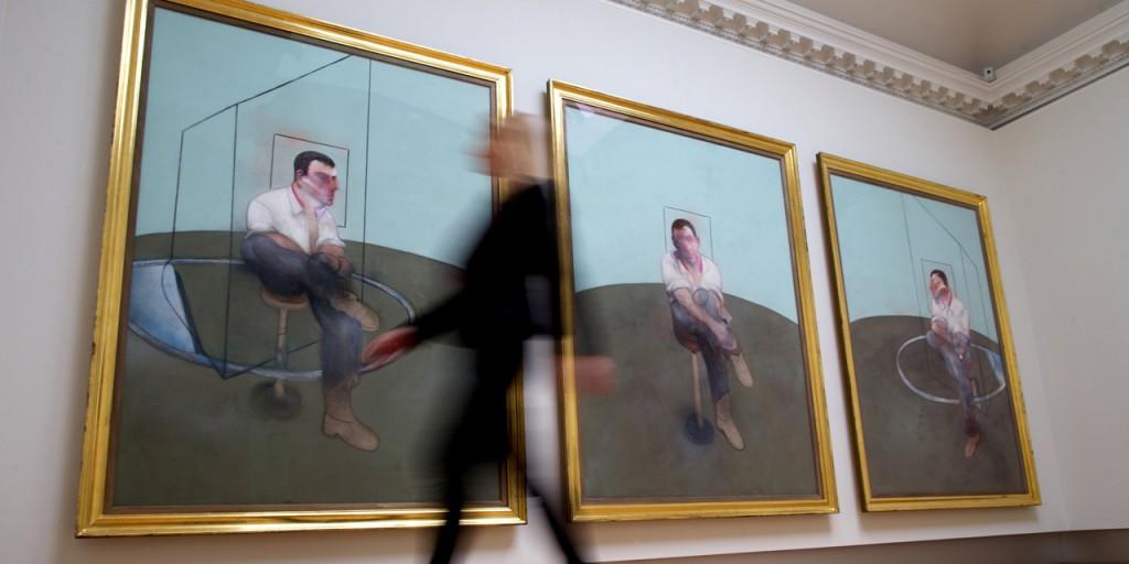 Triptychon von Francis Bacon Foto: @ ANDREW COWIE / AFP