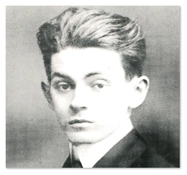 Egon Schiele en 1909, via Moicani