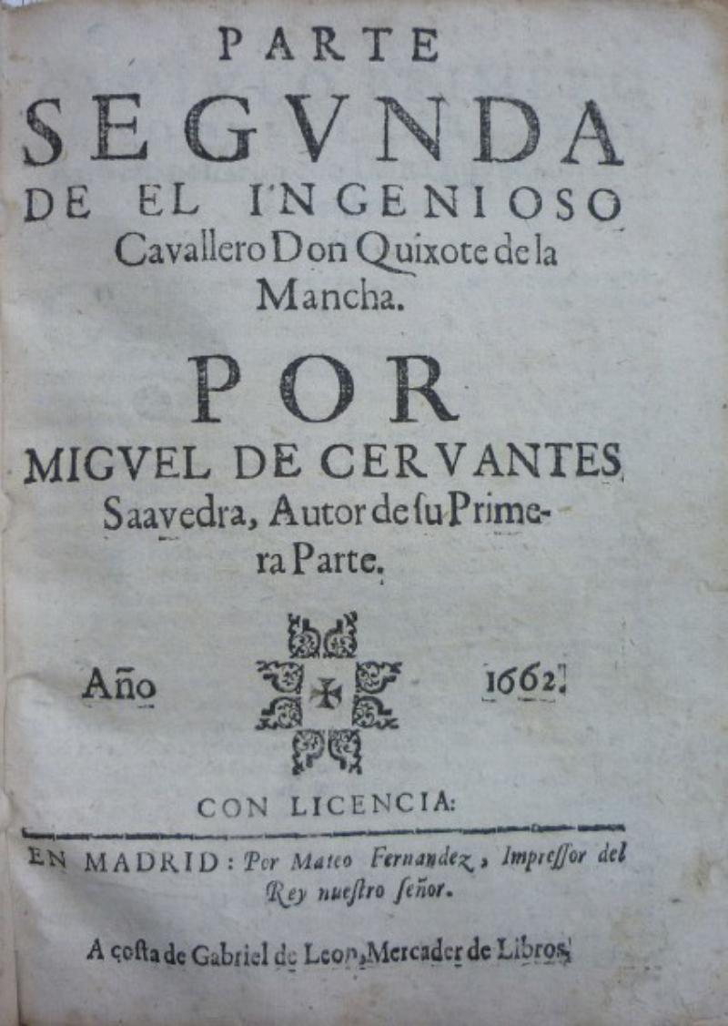 Miguel de Cervantes Saavedra, Don Quixote de la Mancha (1668) Utropspris: 46 700 SEK Duran Subastas