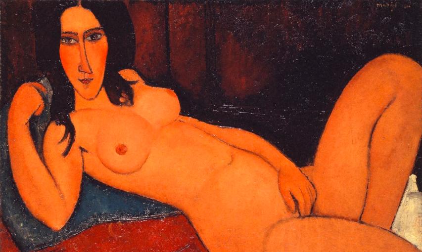 Amedeo Modigliani, 'Reclining Nude with Loose Hair', 1917
