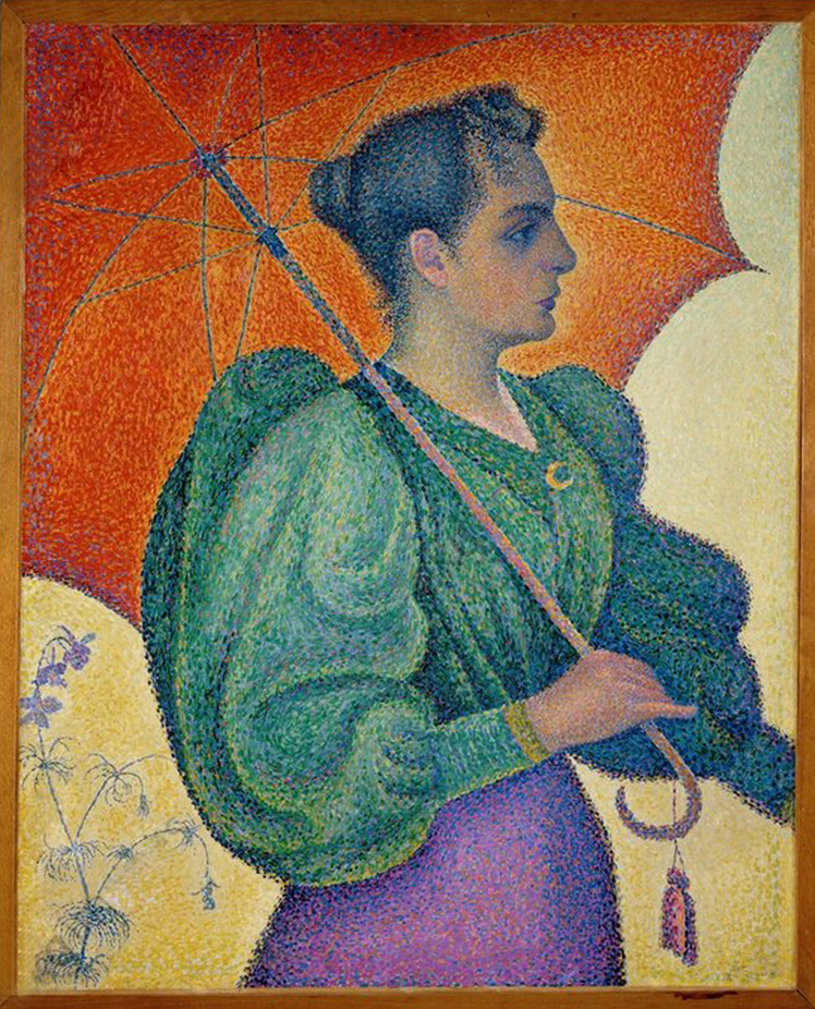 Paul Signac, Femme à l'ombrelle, 1893, (Portrait de Berthes Roblès), image © Musée d'Orsay