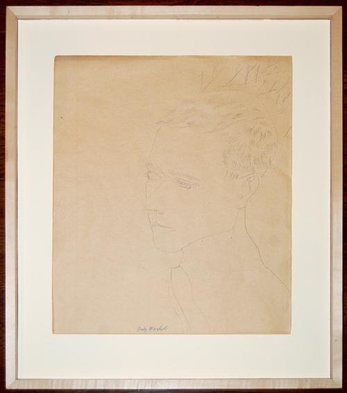 Dibujo original en papel firmado por ANDY WARHOL que fue enviado al Servicio de Valoración de Barnebys.