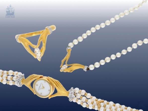 CARRERA Y CARRERA Schmuckset mit Armbanduhr, Kette und Ring,
