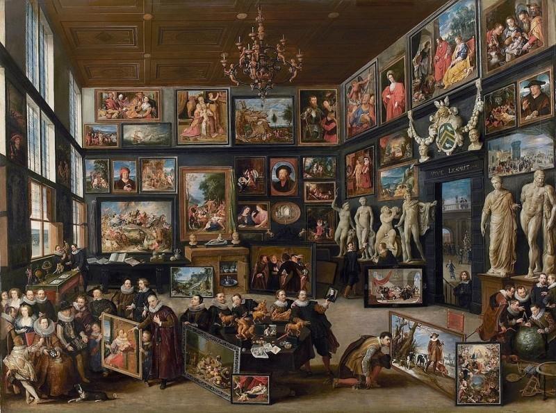 Willem van Haecht, « Apelle dipinge Campaspe », vers 1630. Galerie du prince William V, La Haye.
