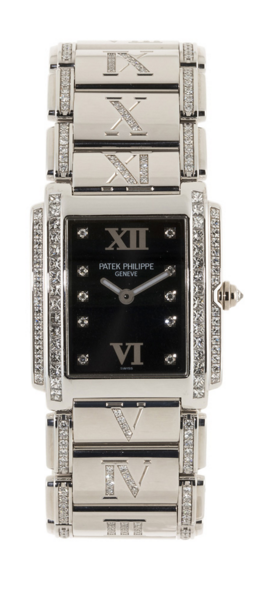 Patek Philippe, Twenty 4, montre-bracelet en or gris sertie de diamants