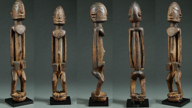 Figure Dogon, bois sculpté Dogon, Mali, circa 1700-1800 Estimation: 60 000 $ - 120 000 $