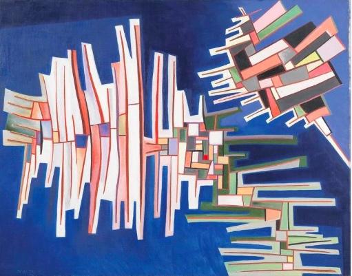 Piero Dorazio Rome, (1927–2005), « Elemento Chiuso-Elemento aperto », 1952, image ©Dorotheum
