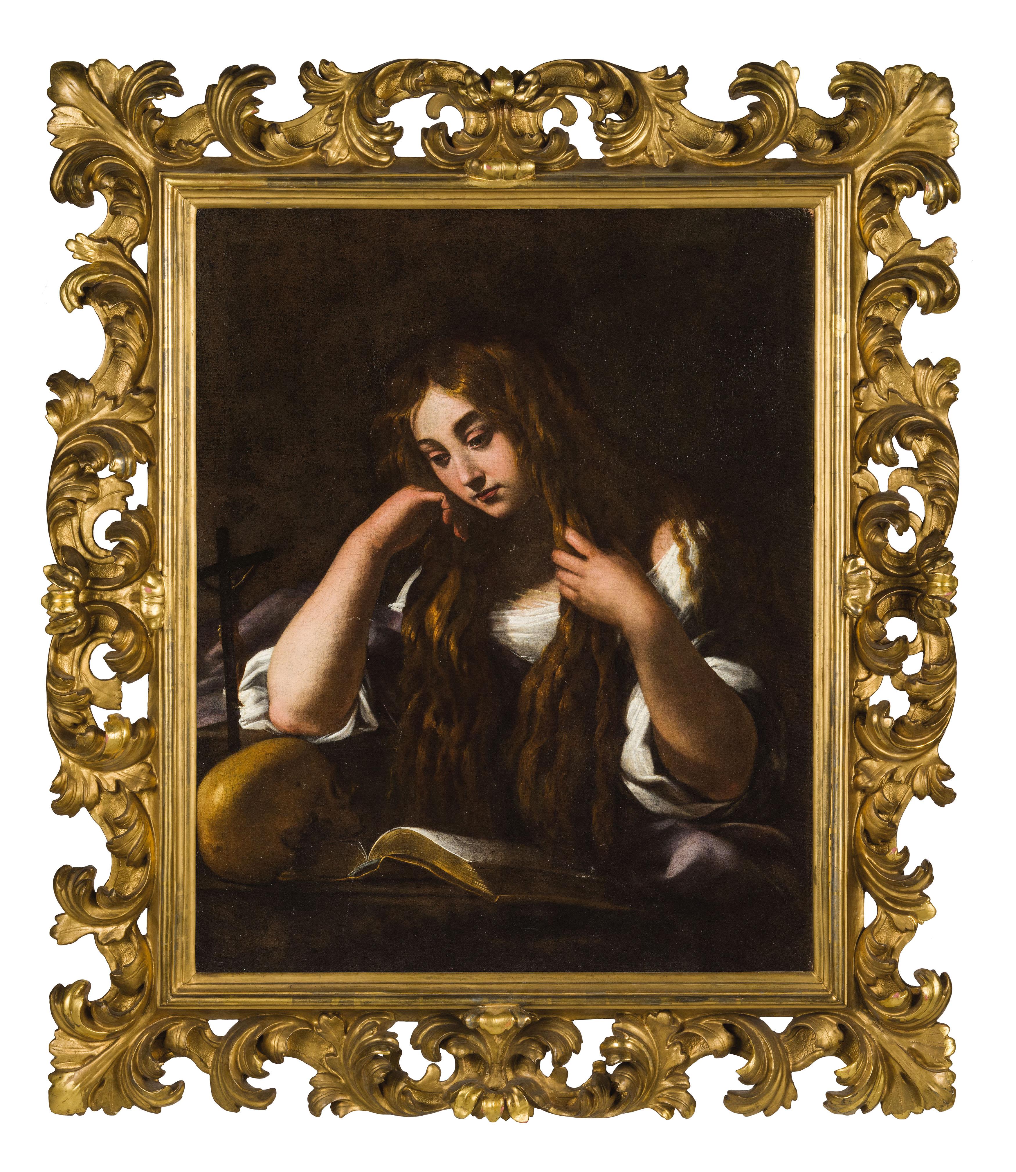 GIOVANNI BAGLIONE (um 1566/1568 Rom 1643) - Maddalena, Öl/Lwd.