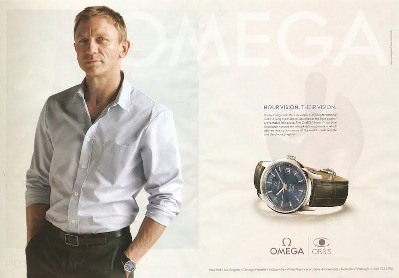 Daniel Craig, che ha interpetato la celebre spia, in una pubblicità per Omega.