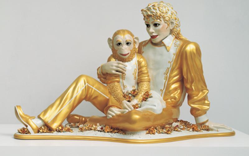 Jeff Koons, Michael Jackson and Bubbles, 1988. Immagine: Jeffkoons.com