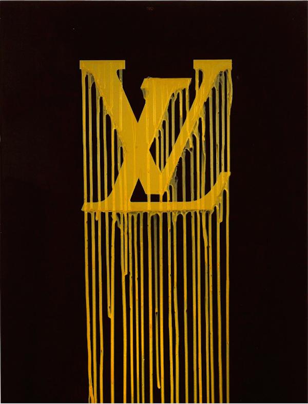 "法國藝術家ZEVS' ""LV"",壓克力油畫,估計at €5 000-6 000 at Aguttes"
