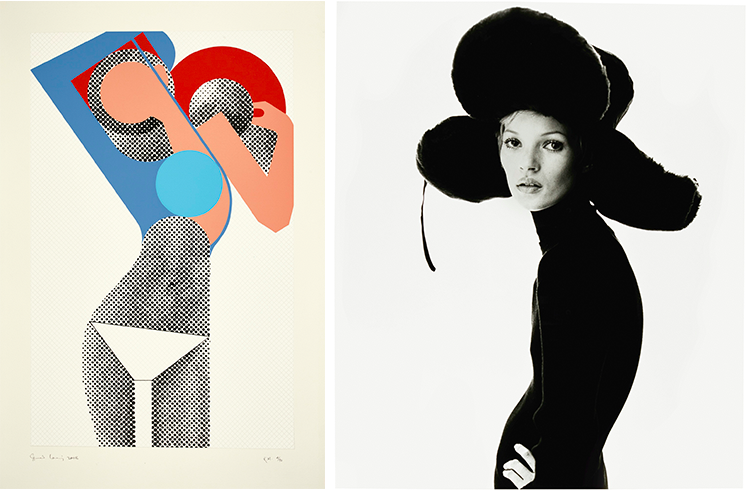 Links: Gerald Laing, KM (Kate Moss), 2008 Rechts: Steven Klein, Girl with Hat (Kate Moss), 1993 | Fotos: Sotheby's