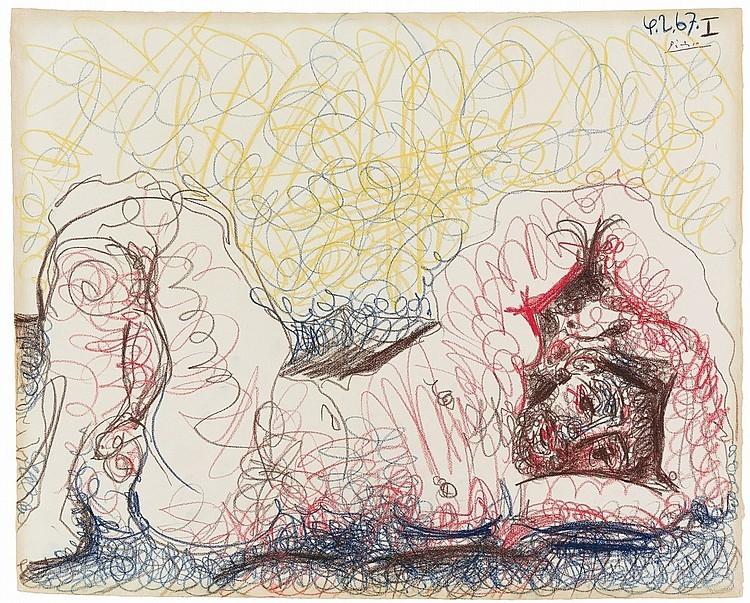 Pablo Picasso, « Homme nu couché », 1967, image ©Lempertz