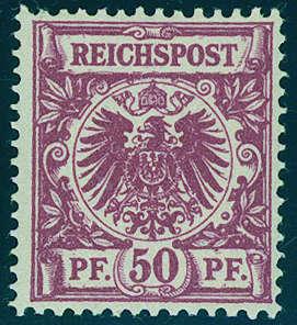 DEUTSCHES REICH - 1889 Krone/Adler, 50 Pfg. Ausruf: 10.000 EUR