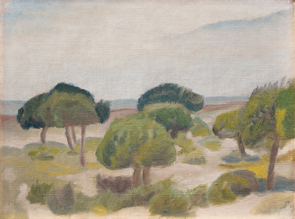 "Ivan Aguéli, ""Spanskt landskap"". Foto: Bukowskis."