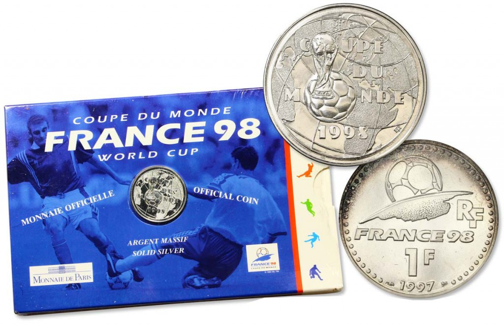 Brillant Universel 1 franc Coupe du Monde de Football 1998 1997 Cgb.fr