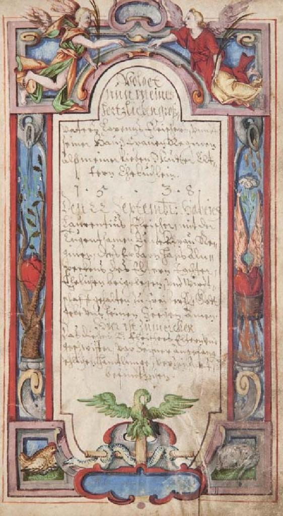"""Familienchronik (""""Ehebüchlein"""") der Familien Fleischer, Beyer, von Gersdorff, Liebeler u.a., Sachsen um 1580-1710 Startpreis: 8.000 EUR"""