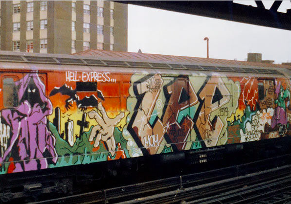 Opera dello street artist Lee, immagine via fatcap