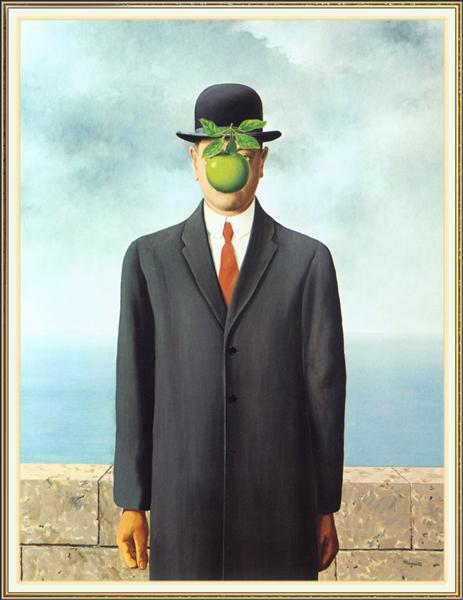 René Magritte, The Son of Man, 1964   Foto: WikiArt.org