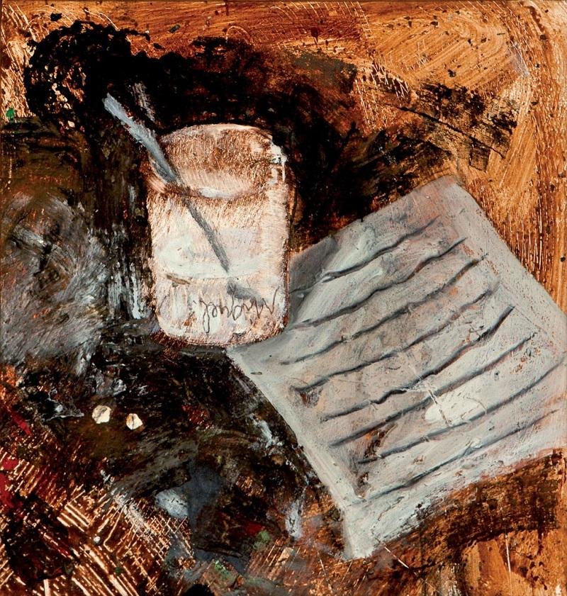 Objekt 164:Miquel Barceló (1957).Verdades y aspirinas. Olja på canvas. Startpris: 560 000 kronor.