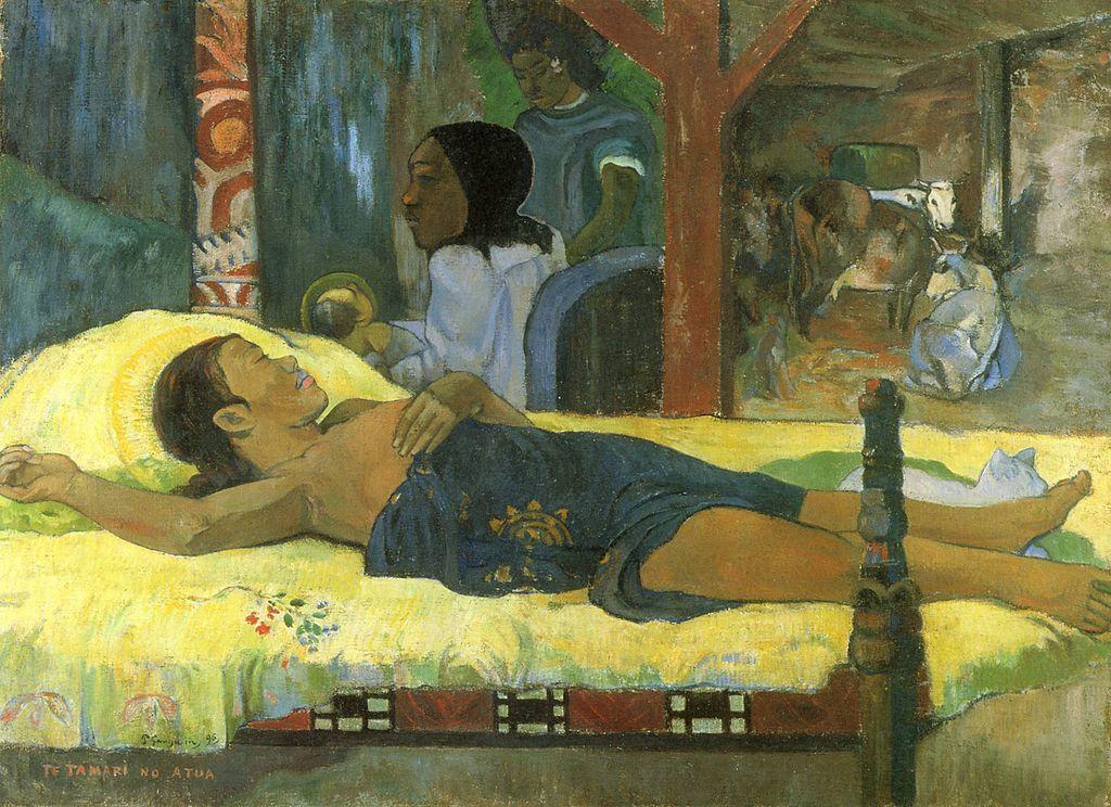 89/5000 PAUL GAUGUIN (1848-1903) - Te tamari no atua, huile sur toile, 1896 Munich, Neue Pinakothek