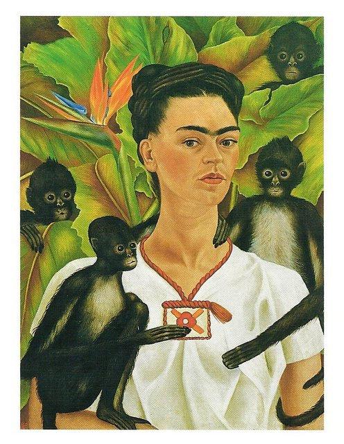 Frida Kahlo - Selbstportrait mit Affen, 1943