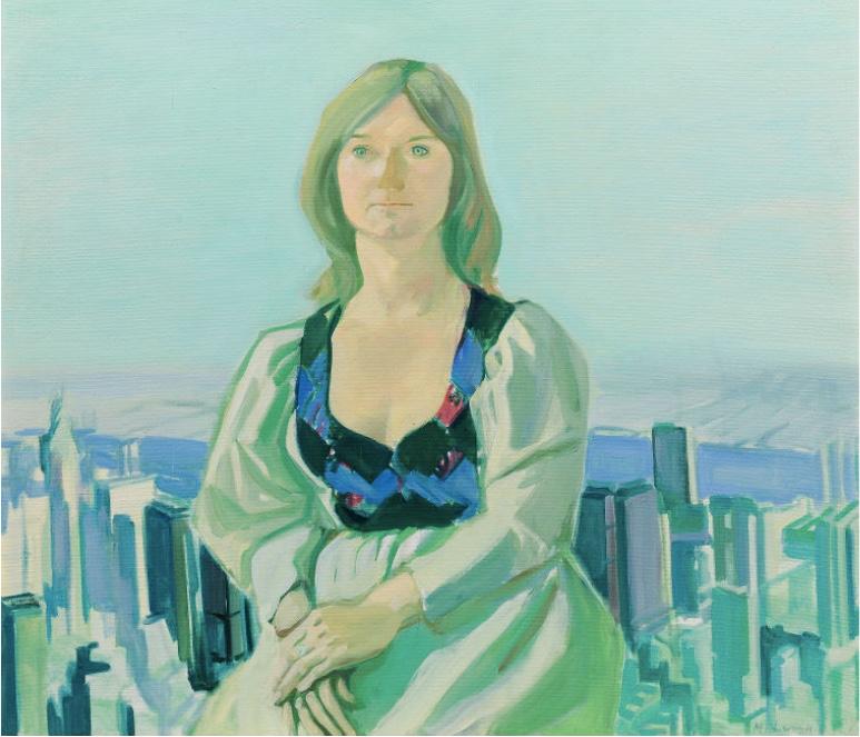 MARIA LASSNIG (1919 Kappel am Krappfeld - 2014 Wien) - Blick auf New York aus dem Atelier der Künstlerin, Öl/Lwd., signiert und datiert, 1976