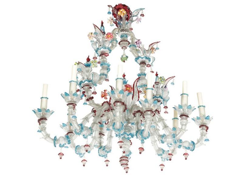 Lámpara en cristal de Murano