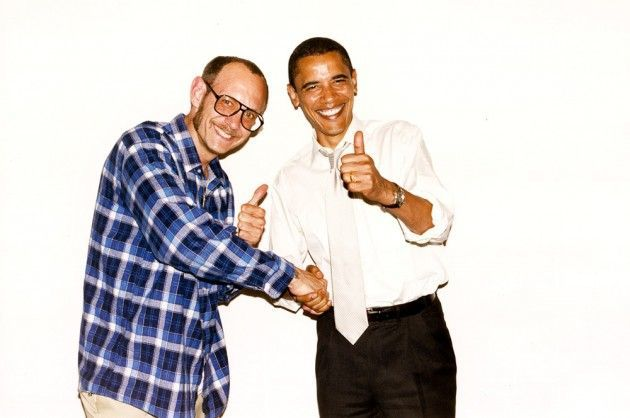 Terry Richardson and Barack Obama in 2013 Image via Konbini