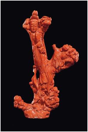 Korallskulptur, Guanyin, Kina. Utrop: 370 000 SEK Cambi