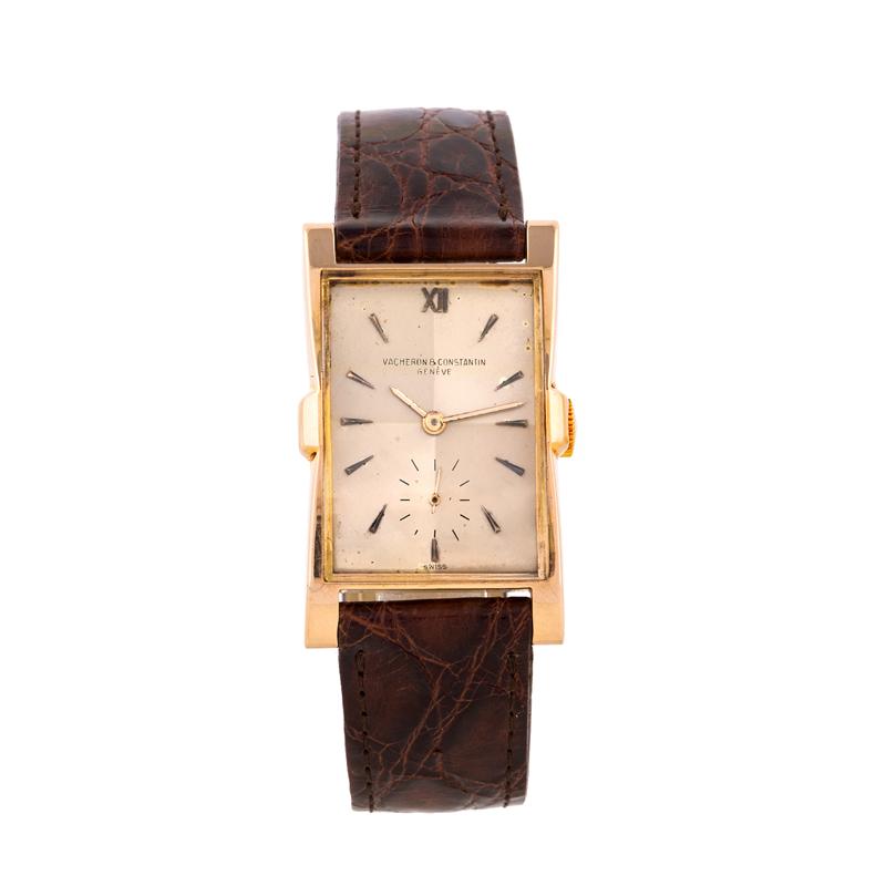 VACHERON & CONSTANTIN - Wrist watch, rose gold, 1940s Estimate: 4 000-6 000 EUR Result: 4 920 EUR